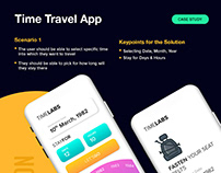 Time Travel App Case Study | iOS | UI/UX