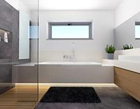 bathroom - #cement #wood #lacobelo