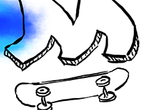 Skate'R': Letters on Skateboards