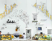 Hand-painted Mural for Nathalie's Dubai