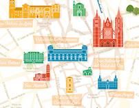 Mapa turístico ilustrado de León