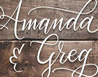 Rehearsal Dinner Invitation for Amanda & Greg