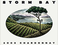 Storm Bay Wine Label Illustrated by Steven Noble