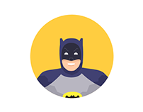 Round Icons III: 1960's Batman Characters