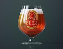 Beer Glass Mock-up – Snifter