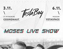 Event: Tesla Boy. Moses Live Show.
