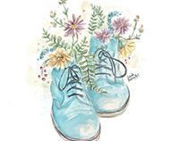 Flowery Slipper.
