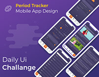 iPhone UI/UX App Design -Women Period Tracker