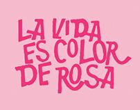 La Vida Es Color De Rosa