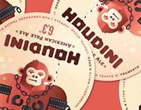 HOUDINI beer _ label illustration, poster & gadget