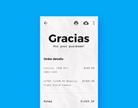 Minimal Mobile Payment Reciept Design