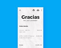 Minimal Mobile Payment Reciept Design