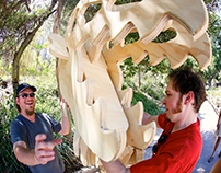 T-Rex Skeleton Wedding Arch