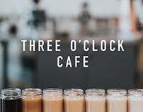 Three O'Clock Cafe Brand Identity