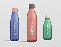 Thermo Bottle Mockup Bundle