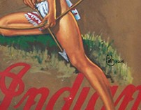 Indian Motorcycle PinUp