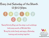 Whitdel Arts - Family Day - Calendars & Flyers