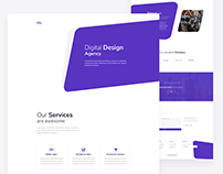 Digital Design Agency - Home Page - Free PSD