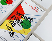 Exhibition about Herbert Bayer, printing communication