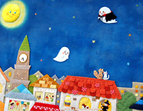 Play with Halloween seals / Monthly picturebook