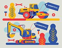 Harvard Business Review Polska - various illustrations