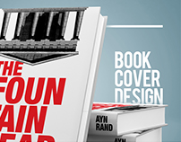 Book cover design : The Fountainhead