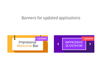Updated banners for web-applications