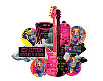 Led Zeppelin Stairway to heaven, infographics design