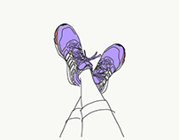 Drawn selfies for Strava