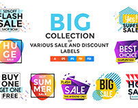 Vivid Collection of Sale Discount Styled Banners