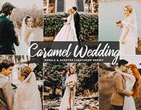 Free Caramel Wedding Mobile & Desktop Lightroom Preset