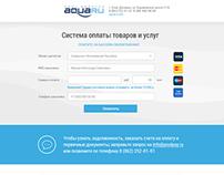 Aquaru: payment processing page