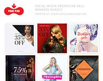 Social Media Promotion Sale Banners Bundle