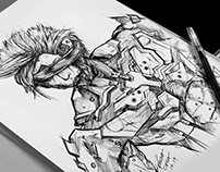 RAIDEN: METAL GEAR SOLID (BALLPEN SKETCH)