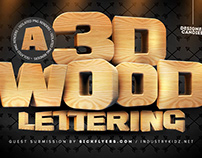 Free* 3D Wooden Lettering Pack