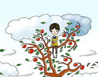 Das Mädchen auf dem Apfelbaum