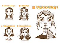 Face Shapes - Sketches
