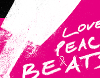 Poster - Love Peace & Beats