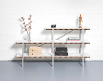 MODULAR SHELF FROM EVERYDAY MATERIALS
