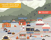 Zermatt Unplugged Festival Map Illustration