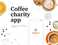 Coffee charity app design concept