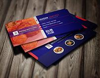 Restaurant visiting card design