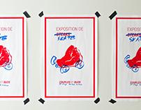 Affiche exposition de skates steaks