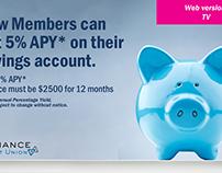Alliance Credit Union: Savings Account Ad Campaign