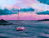Sunset - Impressionist Painting