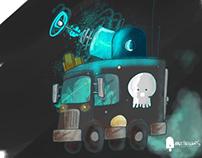 Gigantic-laser-octopus-truck