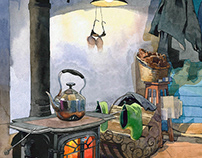 Watercolor Interiors