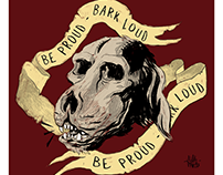 Be proud, Bark loud - Sticker
