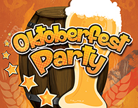 Oktoberfest party poster and flyer design