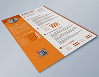 Free Strong Typographic Resume with Cover Letter